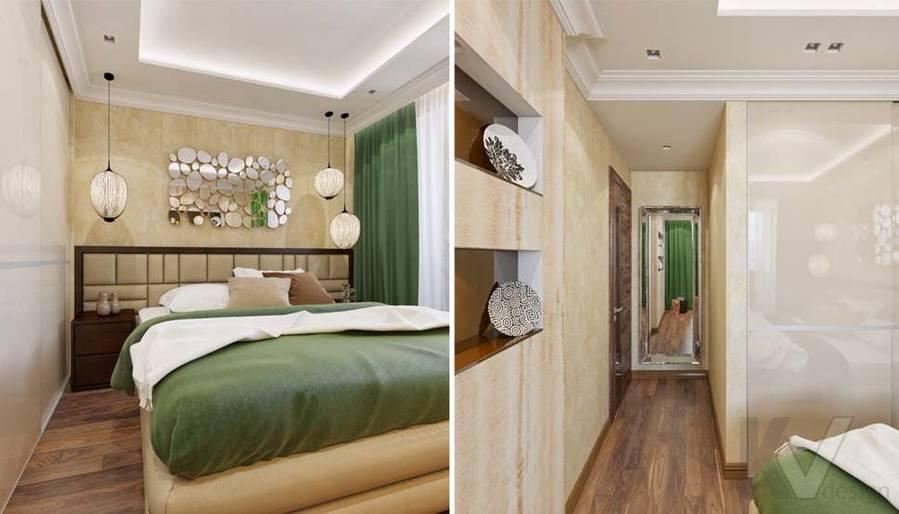 дизайн спальни в четырехкомнатной квартире П-3М - 1
