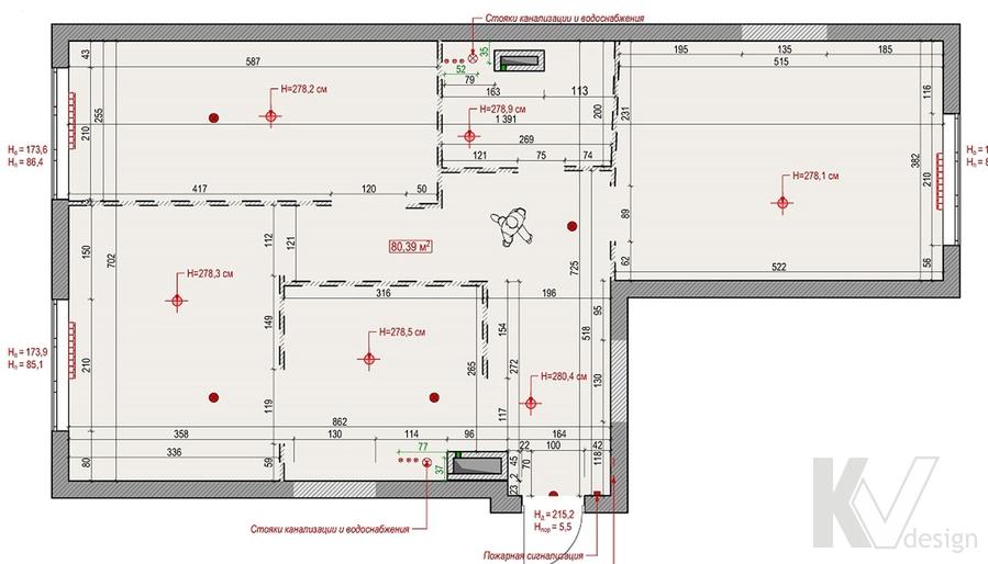 Планировка в 3-комнатной квартире, Welton Park