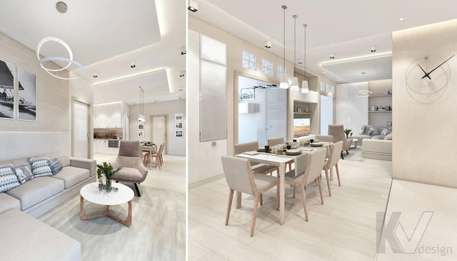 Дизайн гостиной в квартире, ЖК Авеню-77 - 6