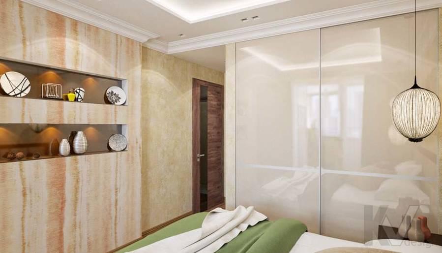 дизайн спальни в четырехкомнатной квартире П-3М - 5