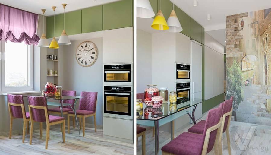 дизайн кухни в 3-комнатной квартире, Войковская - 3