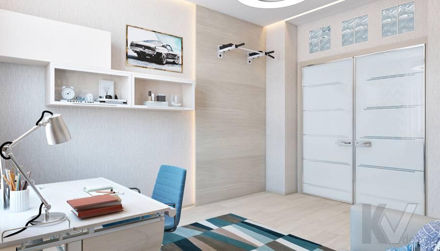 Дизайн детской мальчика в квартире, ЖК Авеню-77 - 2