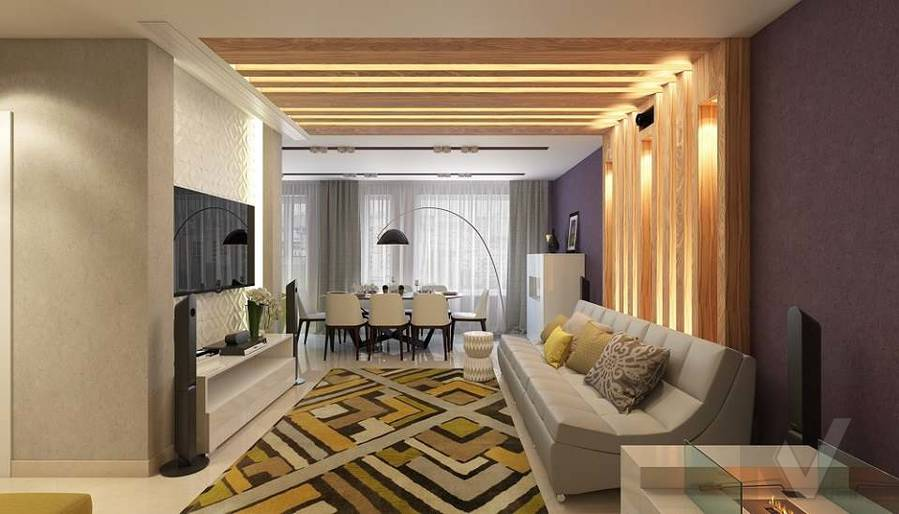 Дизайн гостиной в 2-комнатной квартире в Мытищах - 3