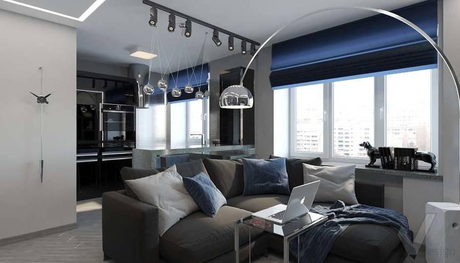 дизайн 1-комнатной квартиры, Красная Пресня - 1