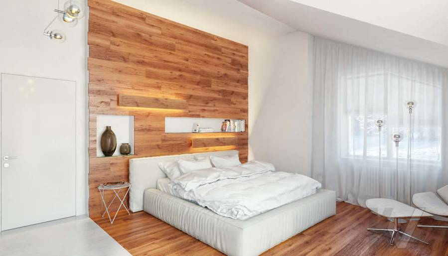 Дизайн спальни родителей в доме, КП Пестово - 3
