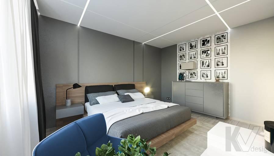 Спальня в 3-комнатной квартире П-44Т, Медведково - 3