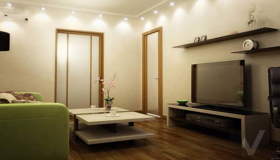 Дизайн двухкомнатной квартиры, Развилка, гостиная - 4