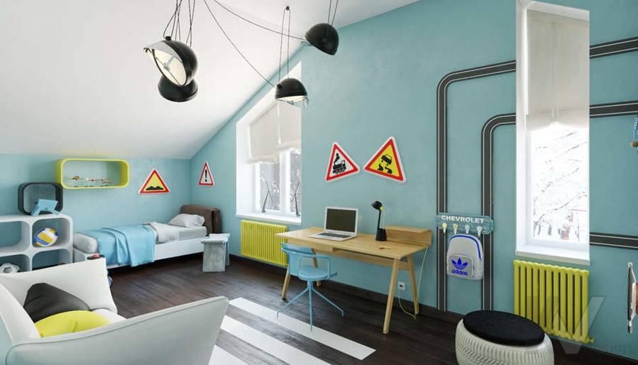 Дизайн комнаты мальчика в доме, КП Пестово - 3
