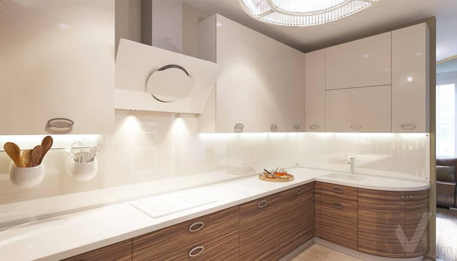 дизайн кухни в 3-комнатной квартире, Welton Park - 1