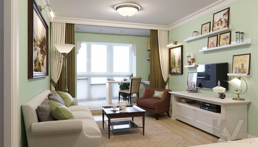 Дизайн гостиной в квартире в Крылатском - 2