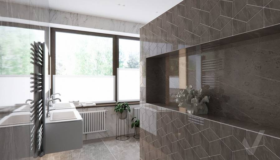 Ванная в доме в поселке Павлово - 4