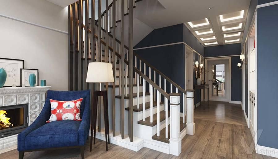 Дизайн гостиной в коттедже, КП «Vita Verde» - 6