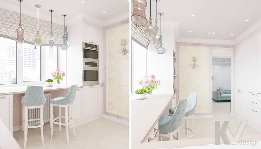 Дизайн кухни в квартире серии П-3, м. Братиславская - 3