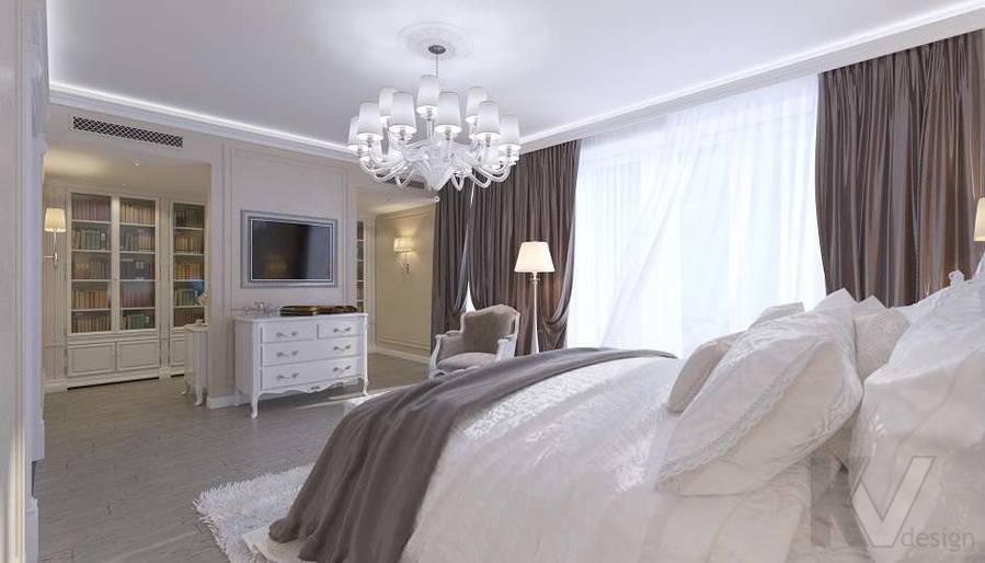 Дизайн спальни в доме, КП «Парк Авеню» - 3