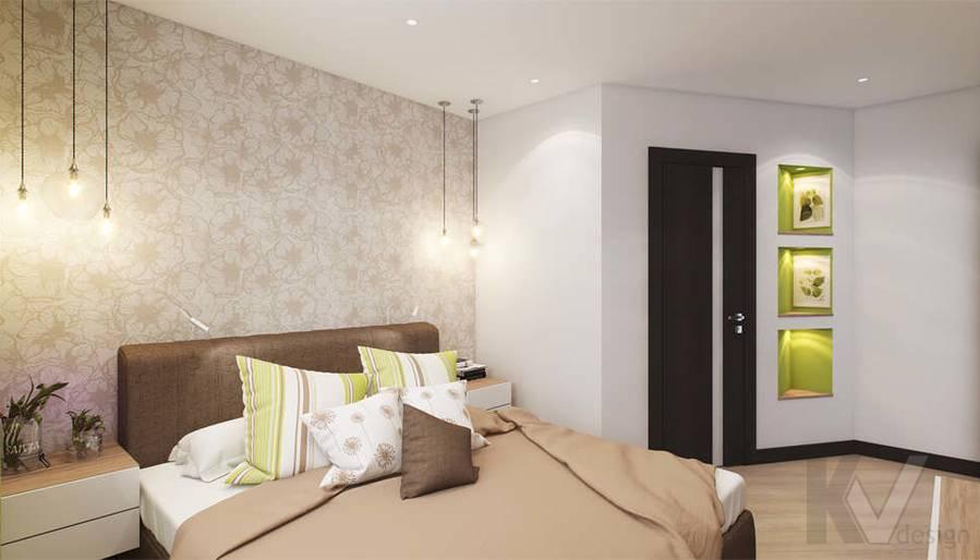 дизайн спальни в квартире П-3М, Владыкино - 2