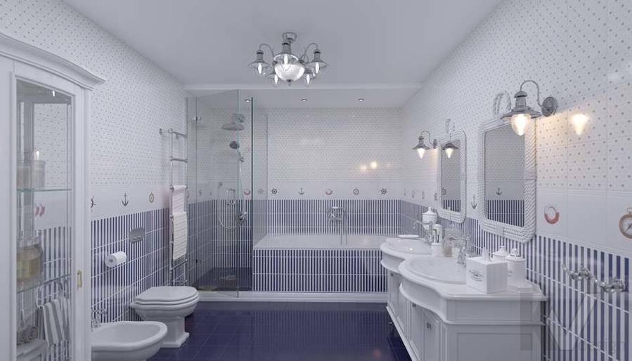 Дизайн детской ванной в доме, КП «Парк Авеню» - 2
