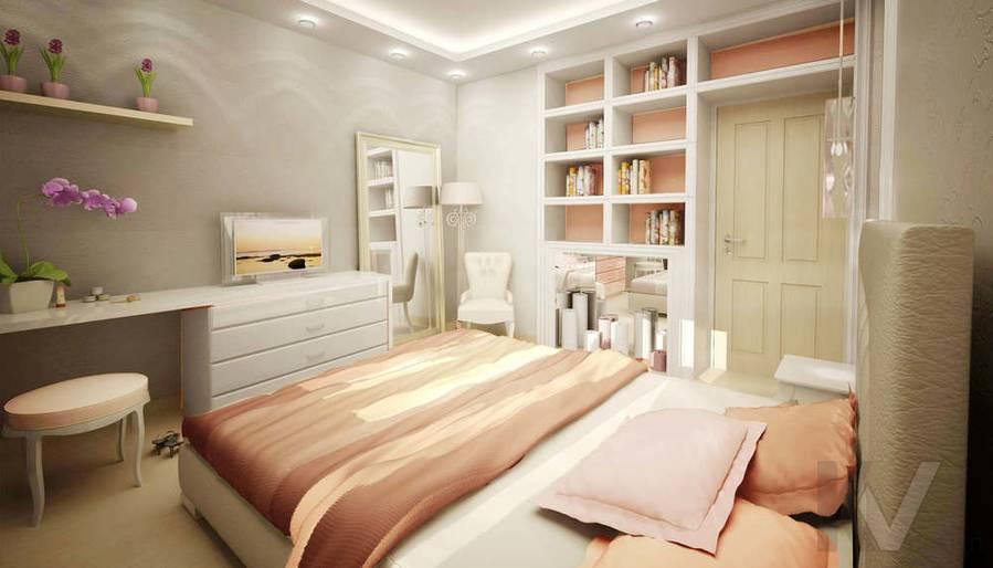 Дизайн квартиры И-155, спальня-2