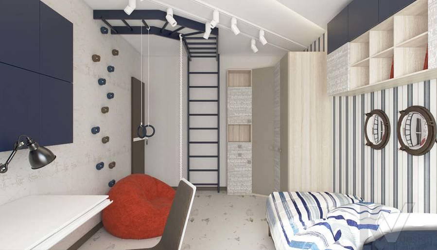 Дизайн детской в 3-комнатной квартире П-3М, Новое Ясенево - 1