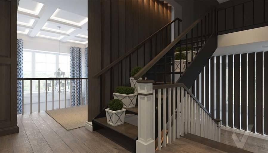 Дизайн лестничной зоны в коттедже, КП «Vita Verde» - 2