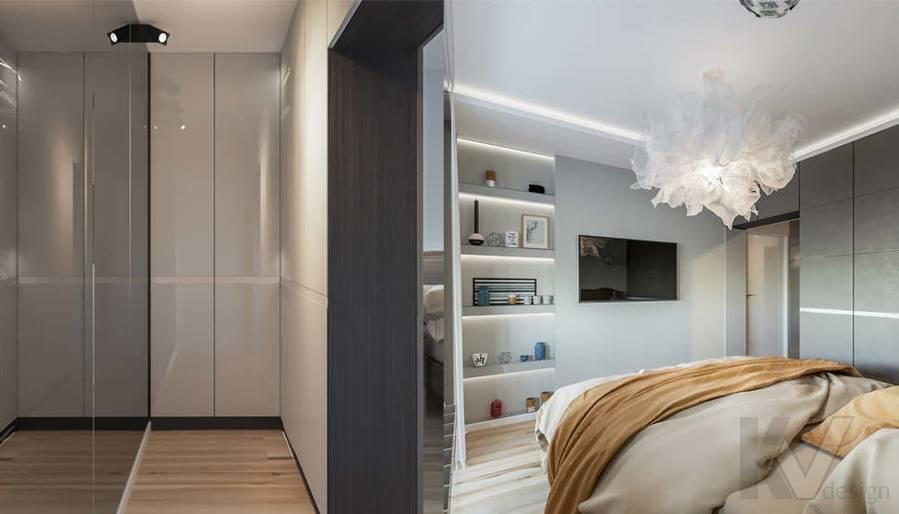 Дизайн спальни в двухкомнатной квартире, Сходненская - 5