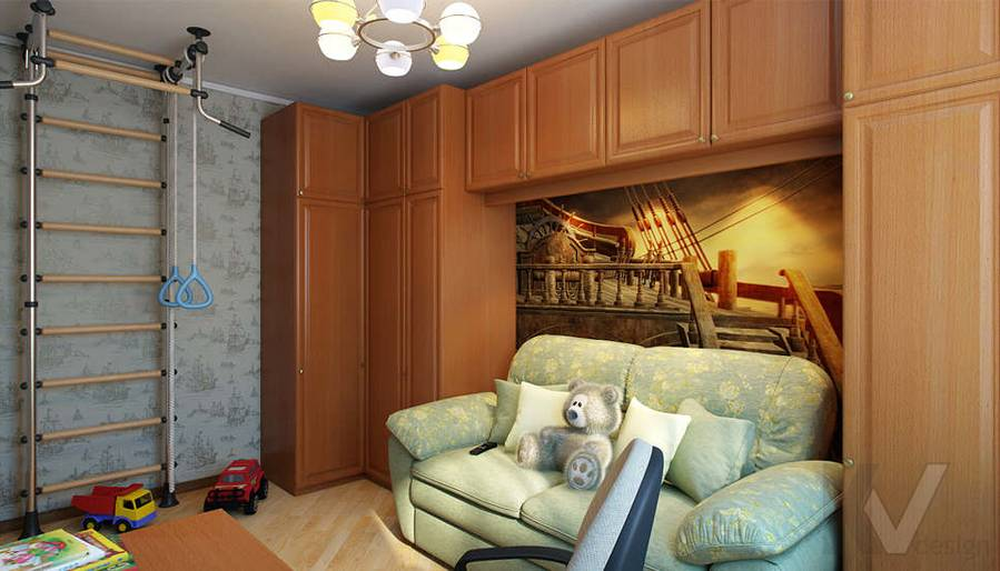 Дизайн детской в 2-комнатной квартире - 3