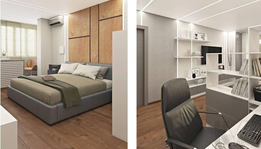 Спальня в квартире П-44Т в г. Московский - 5