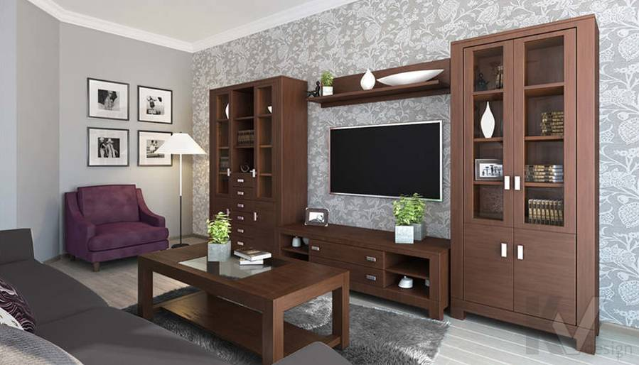 дизайн гостиной-кухни в 3-комнатной квартире, Троицк - 2