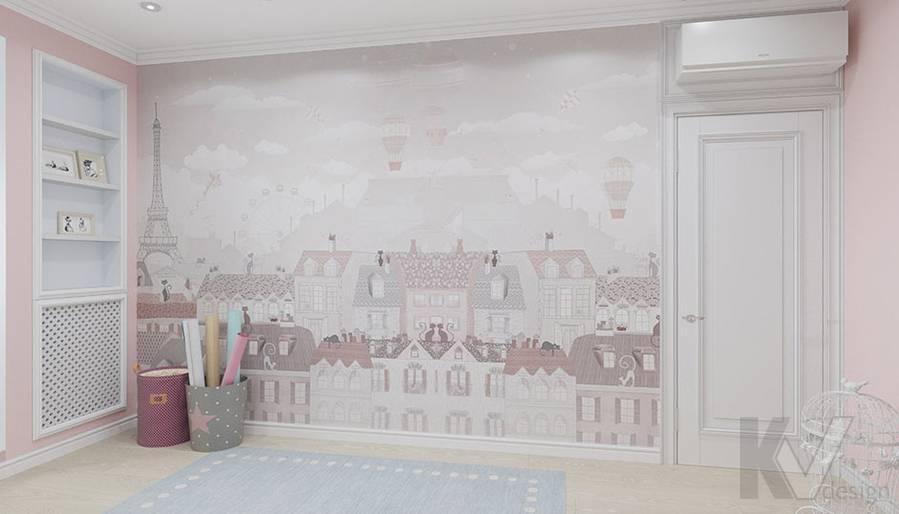 Дизайн детской в квартире серии П-3, м. Братиславская - 2
