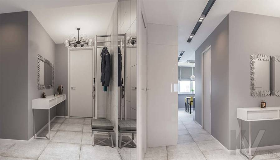 Дизайн прихожей в двухкомнатной квартире, Сходненская - 2