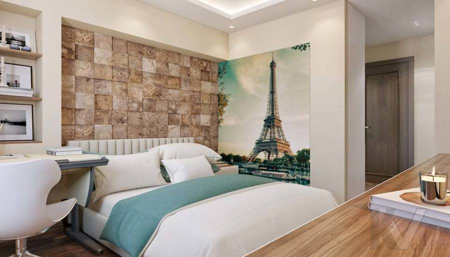 дизайн комнаты девушки в четырехкомнатной квартире П-3М - 7