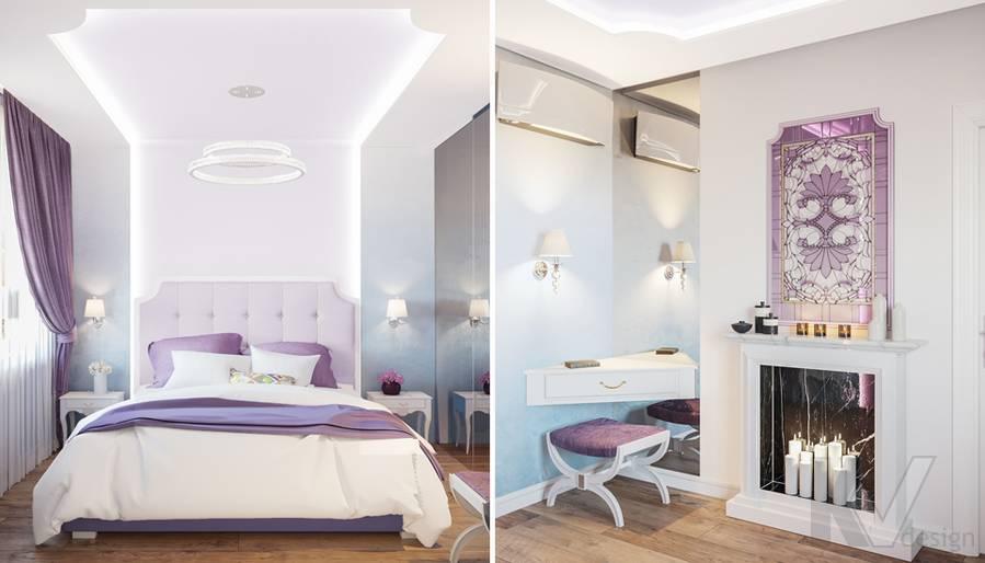 Дизайн спальни в квартире на Ленинском проспекте - 1