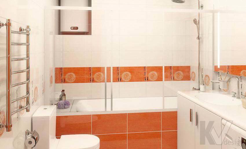 Дизайн 3 комнатной квартиры ЖК Богородский, ванная - 2