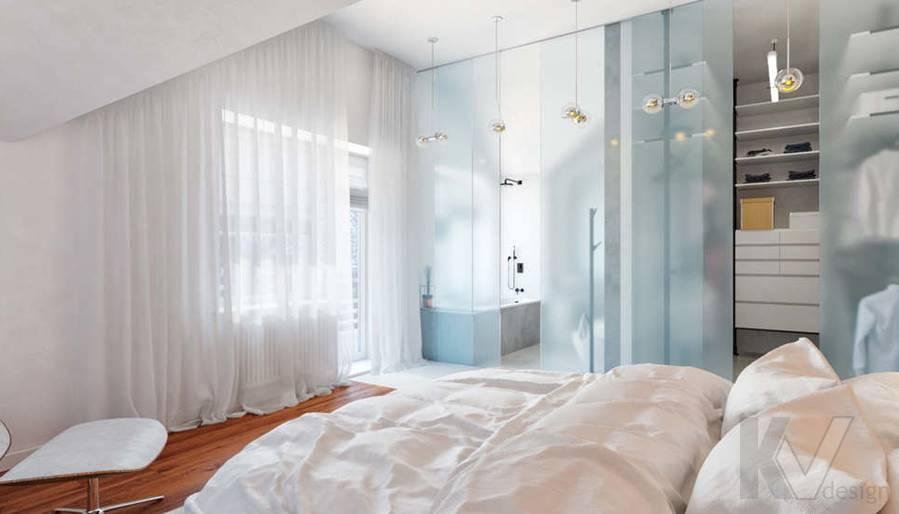 Дизайн спальни родителей в доме, КП Пестово - 5