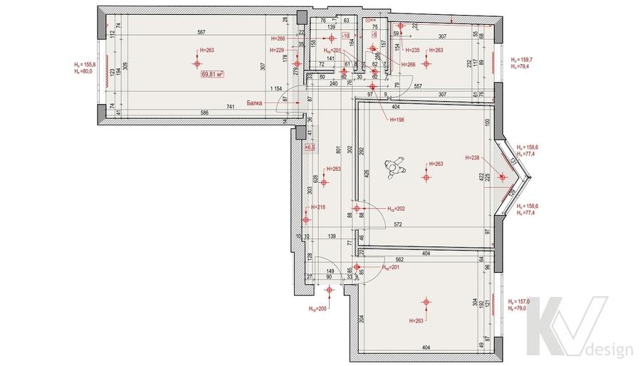 Планировка квартиры на Ленинском проспекте