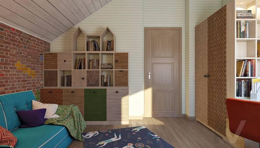 Дизайн детской мальчика в трехэтажном доме - 3