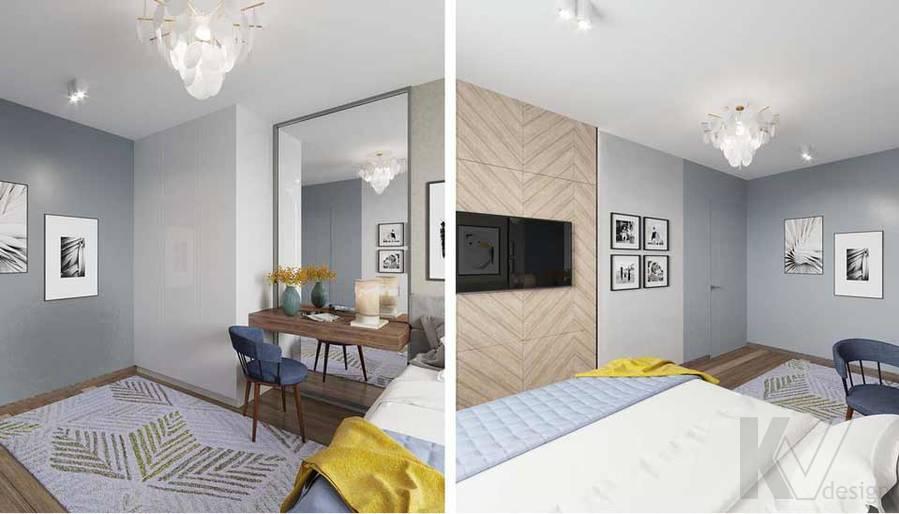 Дизайн спальни в квартире серии П-3М, Южное Бутово - 6