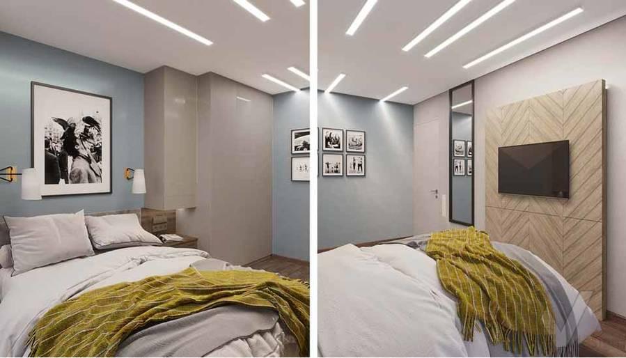 Дизайн спальни в квартире серии П-3М, Южное Бутово - 2