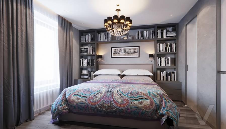 Спальня в проекте объединения квартир, Мытищи - 7