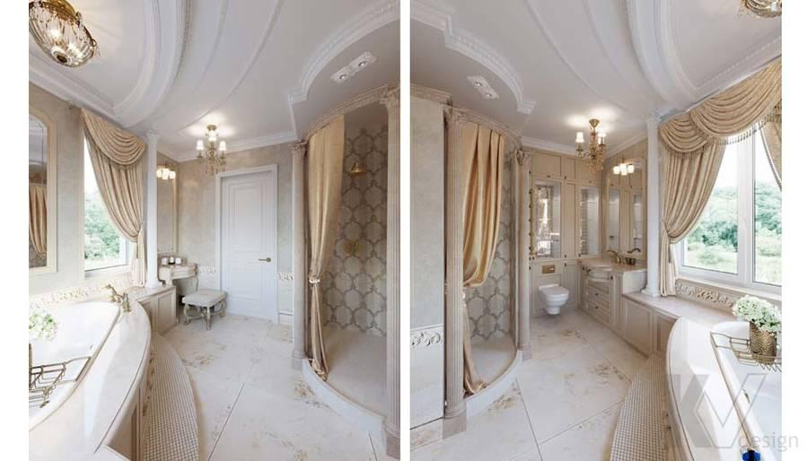 Ванная комната в загородном доме, Медвежьи Озера - 3
