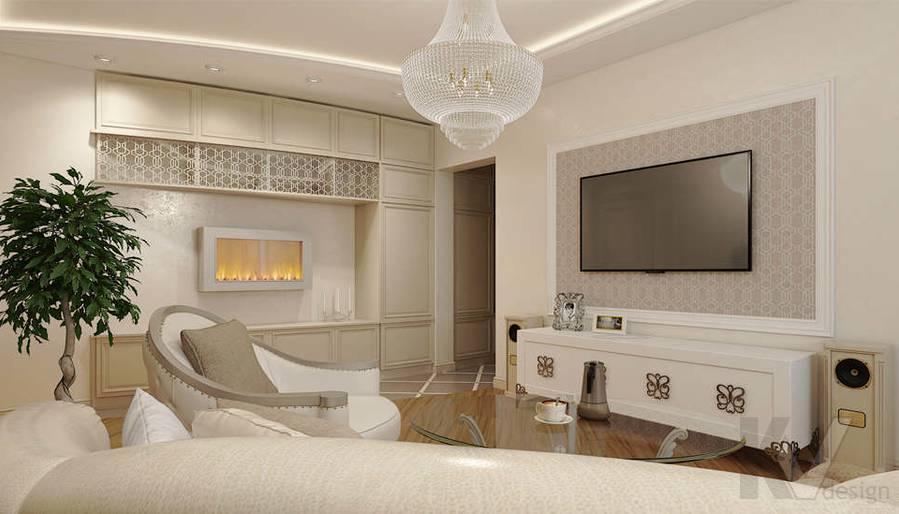 дизайн гостиной в 3-комнатной квартире П-44Т - 3