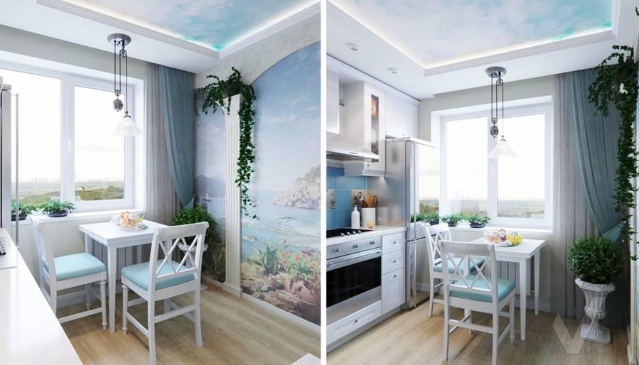 Дизайн кухни в квартире в Крылатском - 2