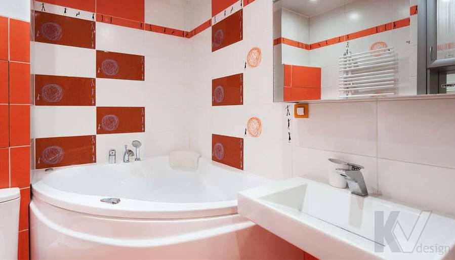 дизайн однокомнатной квартиры - фото ванной 1