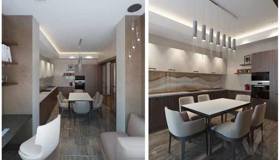 Дизайн кухни в двухкомнатной квартире, ЖК Розмарин - 4