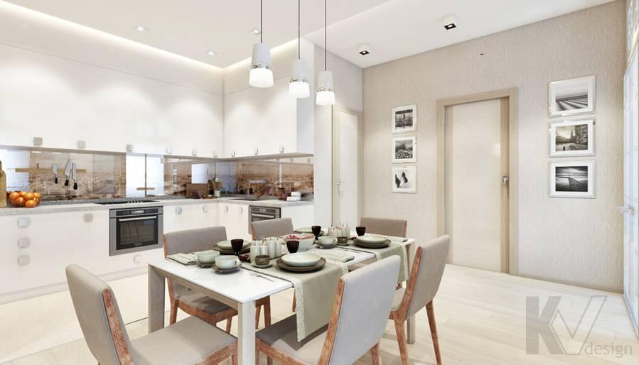 Дизайн гостиной в квартире, ЖК Авеню-77 - 5