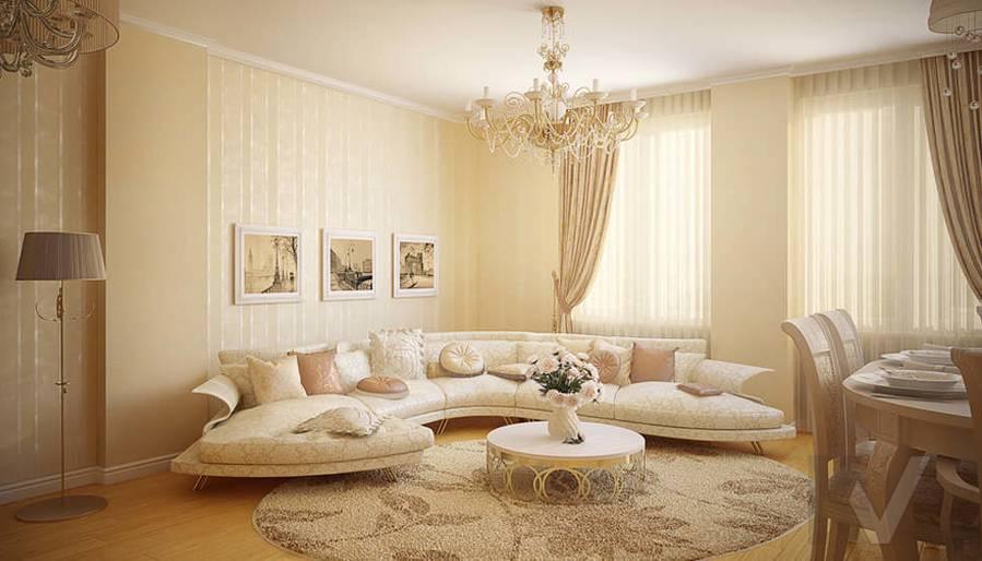 Дизайн квартиры на м. Смоленская, гостиная - 1