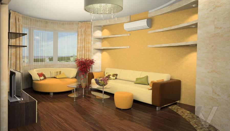 Дизайн квартиры И-155, гостиная-2