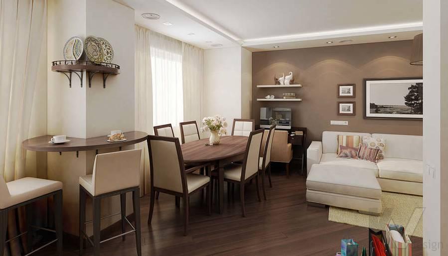Дизайн 3 комнатной квартиры ЖК Богородский, гостиная - 3