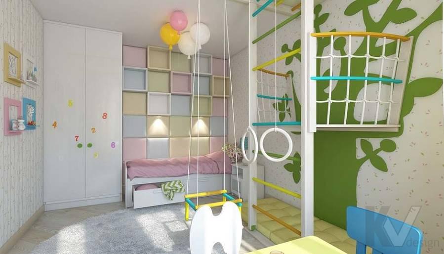 Дизайн детской в 2-комнатной квартире в Мытищах - 3