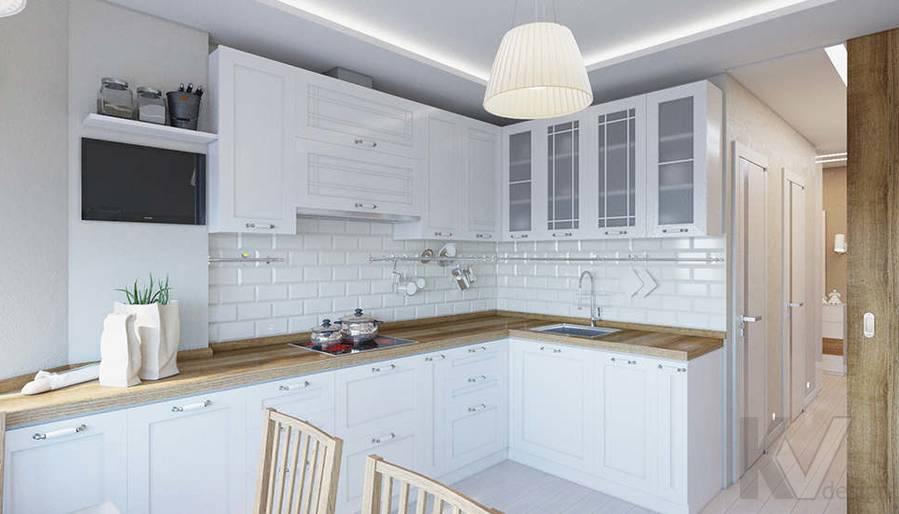 Дизайн кухни в 2-комнатной квартире П-44Т, Московский - 1