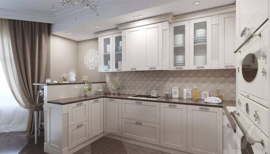 Дизайн кухни в коттедже, КП Эдельвейс - 2